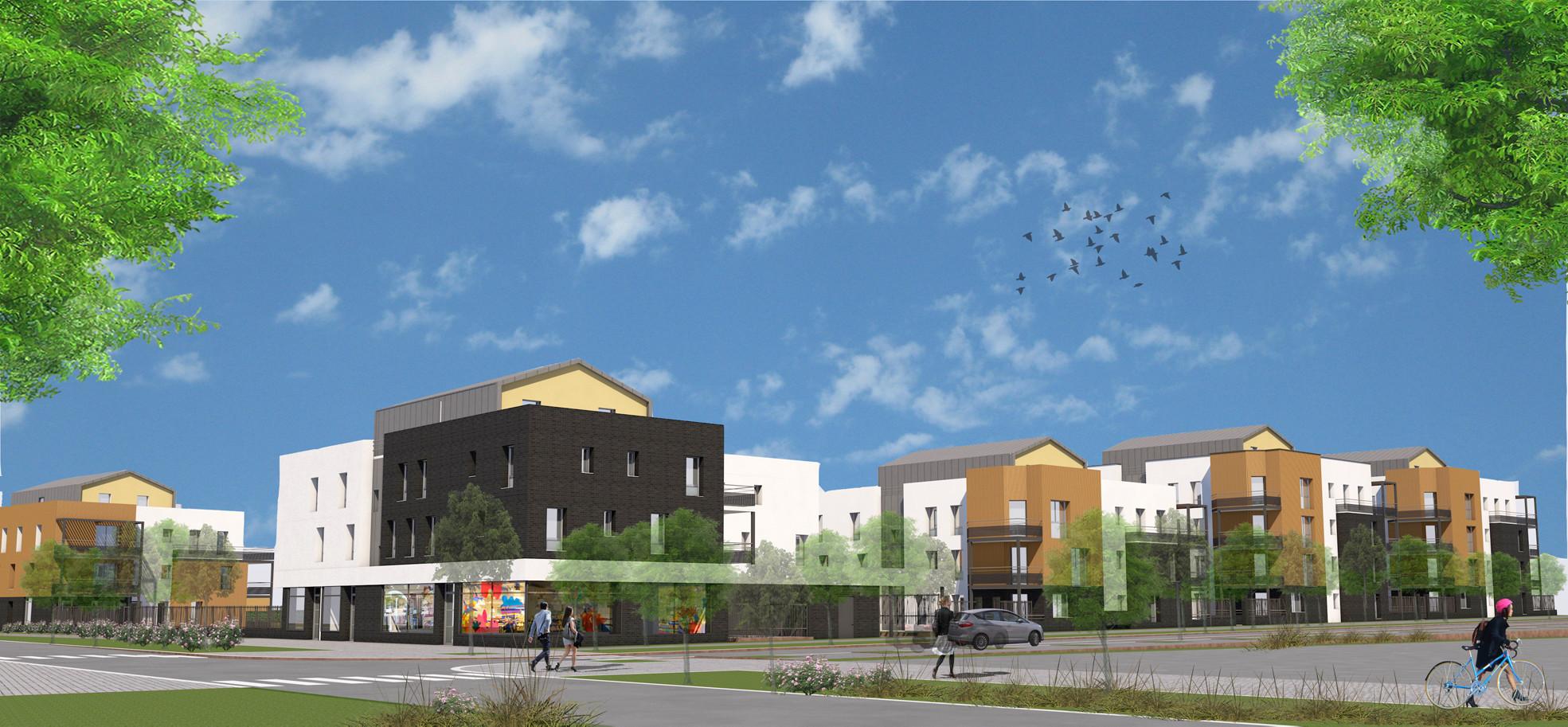 77 600 Bussy-Saint-Georges I Emmaüs Habitat, 1er permis de construire BIM en France