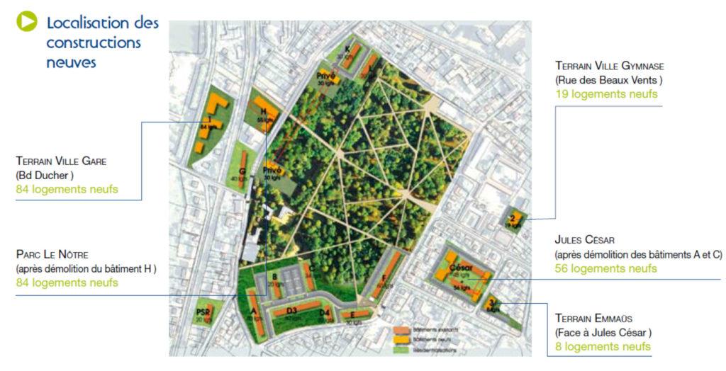 plan localisation des constructions neuves