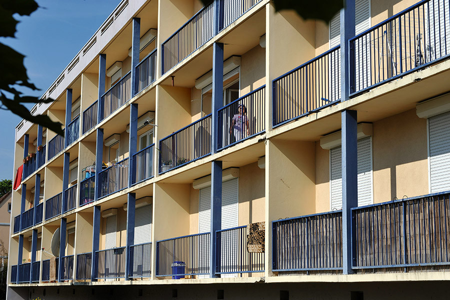 façade côté balcons