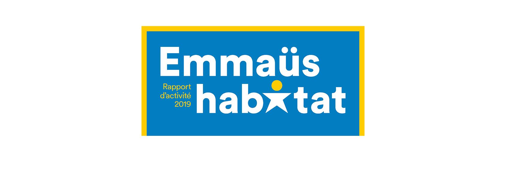 logotype rapport emmaus habitat blanc